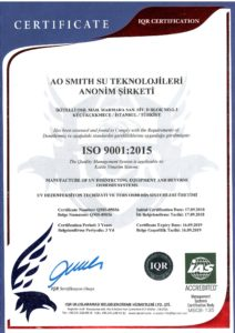 Certificate A O Smith